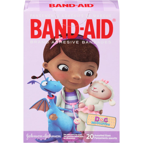Band-Aid Doc McStuffins Assorted Sizes Adhesive Bandages, 20 count