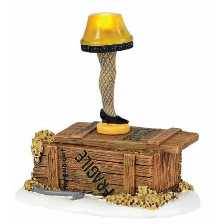 Department 56 A Christmas Story Village Lit Leg Lamp Figurine A Christmas Story Leg Lamp