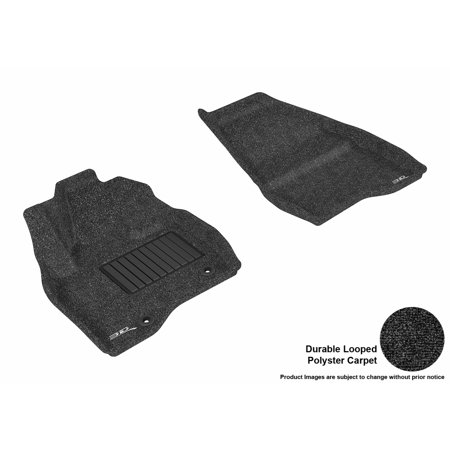 3D MAXpider 2015-2016 Ford Explorer Front Row All Weather Floor Liners in Black (Ford Explorer Carpet Kit)