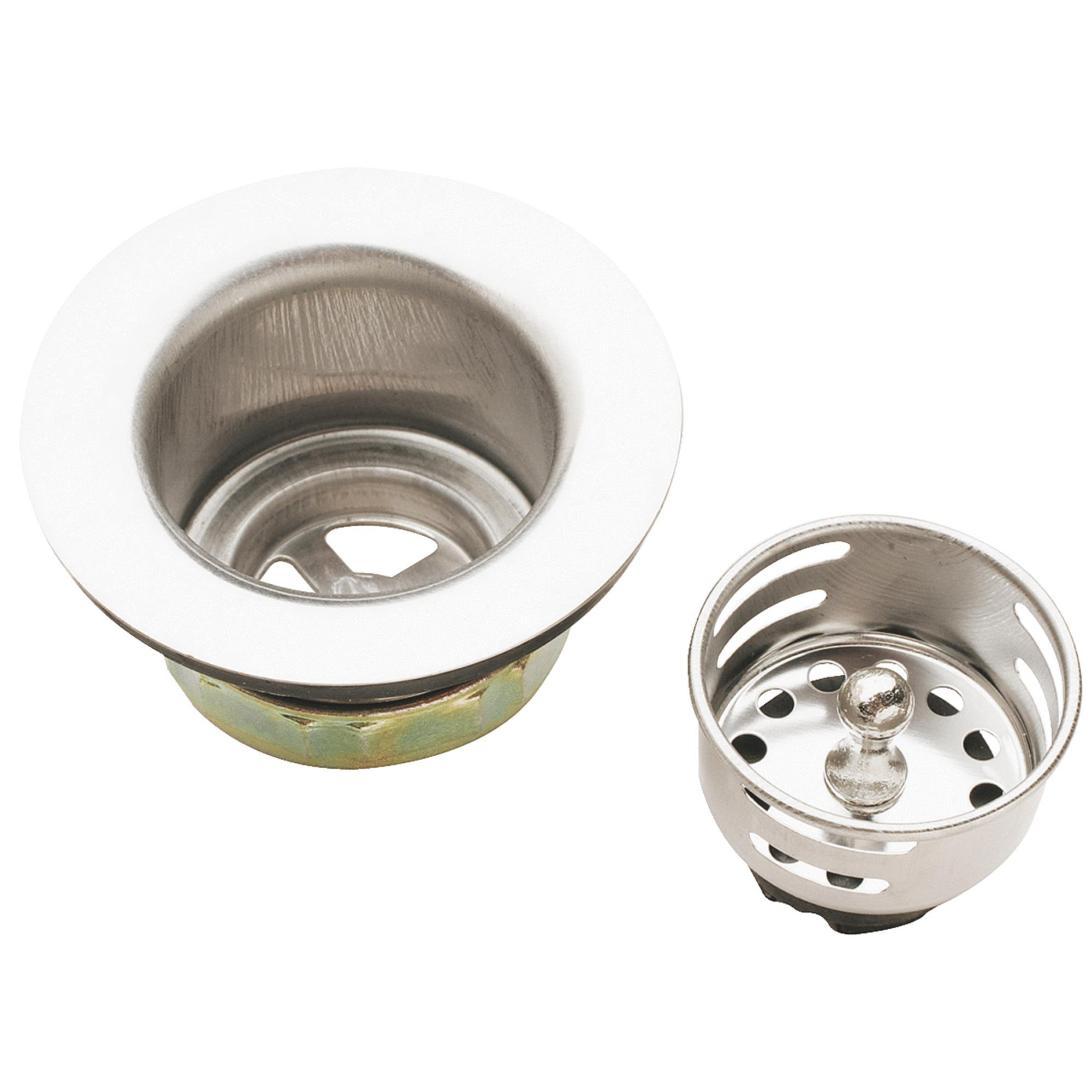 Do it Jr. Duo Bar Sink Basket Strainer Assembly Stainless Steel