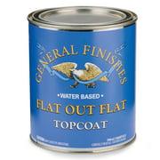 General Finishes Flat Out Flat Topcoat, Quart