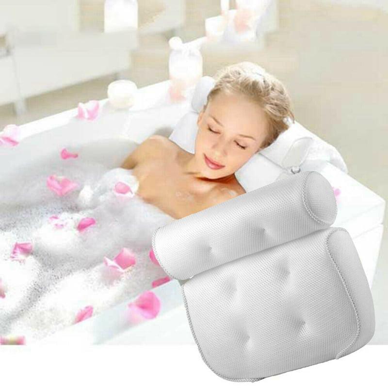 1Pcs Spa Bath Bathtub Pillow Bathroom Neck Support Back Comfort Hot Tub Cushion