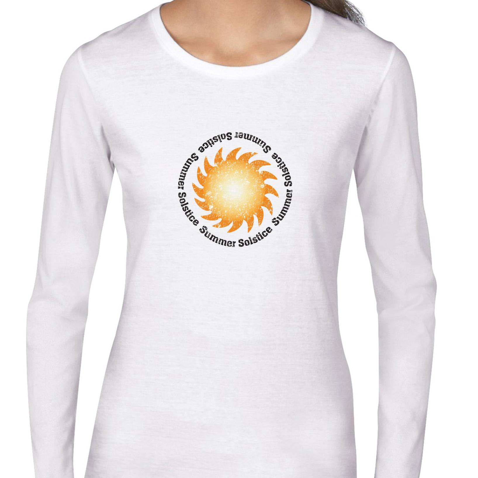 Summer Solstice Awesome Big Bright Sun Graphic Women