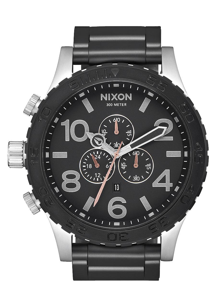 Nixon, 51-30 Chrono Watch - Black/Steel