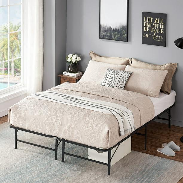 VECELO Full SIze Foldable Metal Platform Bed Frame with ...