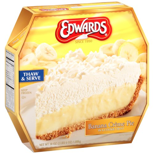 Edwards Banana Creme Pie, 38 oz