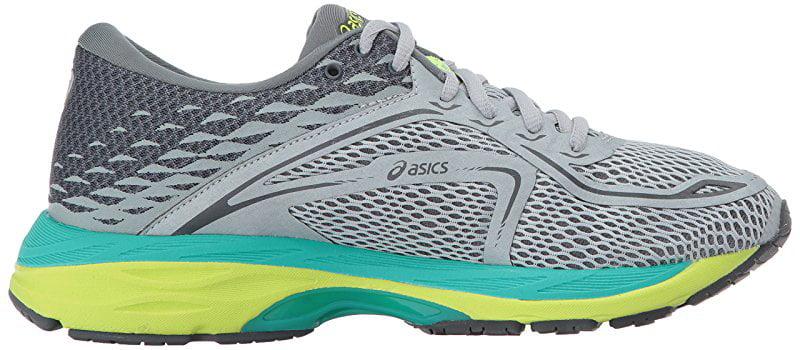 ASICS Women's Gel-Cumulus 19 Running Shoe, Mid Grey/Carbon/Safety Yellow, 11.5 Medium US