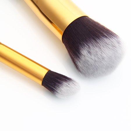 Zimtown 10Pc Makeup Brushes Tool Set Cosmetic Eyeshadow Face Powder Foundation Lip Brush - image 6 of 7