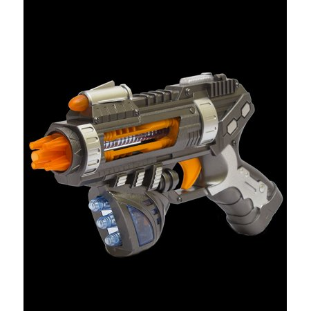 Light Up Space Gun (Fun Central (AU209) 1 pc LED Revolving Space Pistol, LED Light Up Pistol Gun, Revolving Pistol Gun for)
