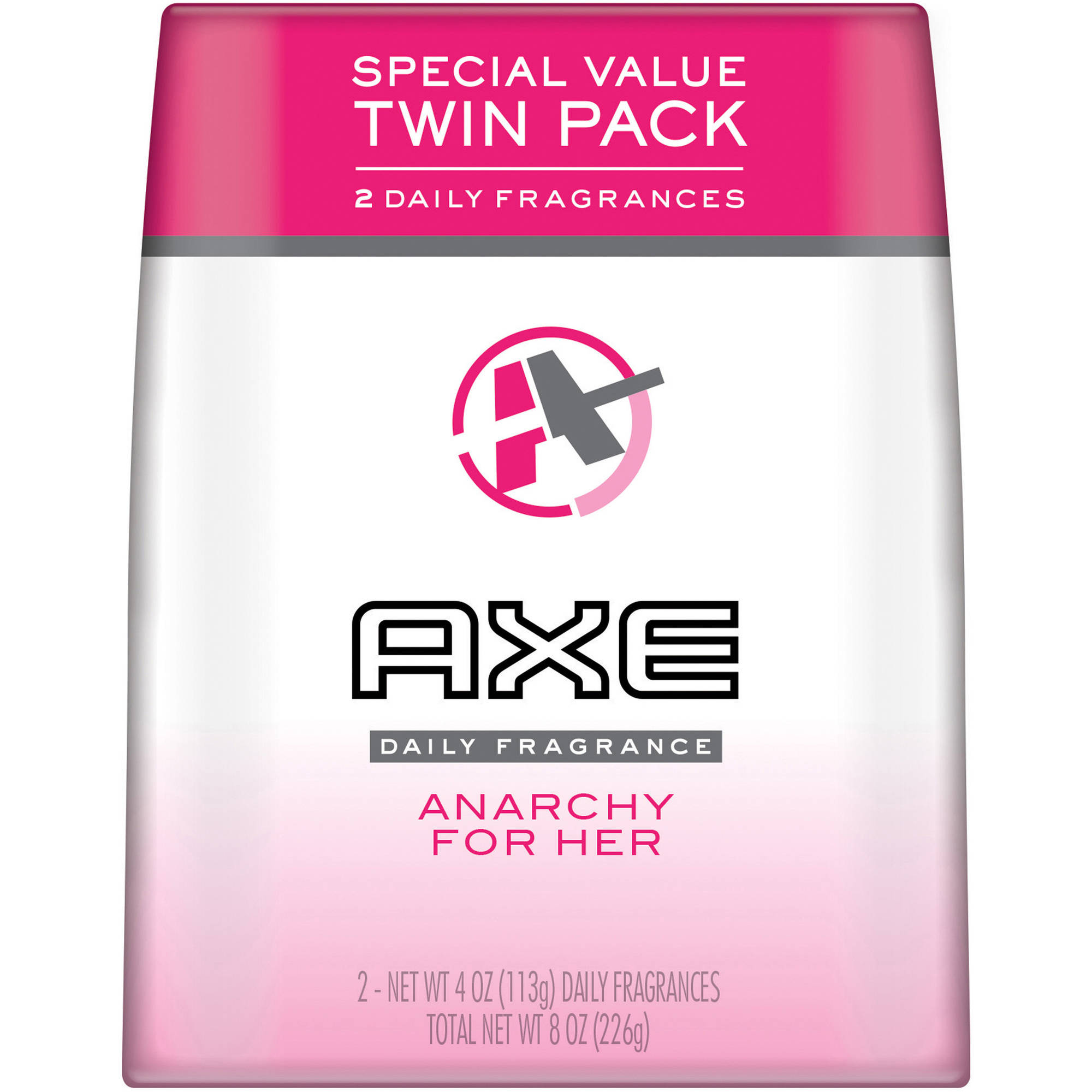 Axe Anarchy For Her Daily Fragrance, 4 oz, Twin Pack