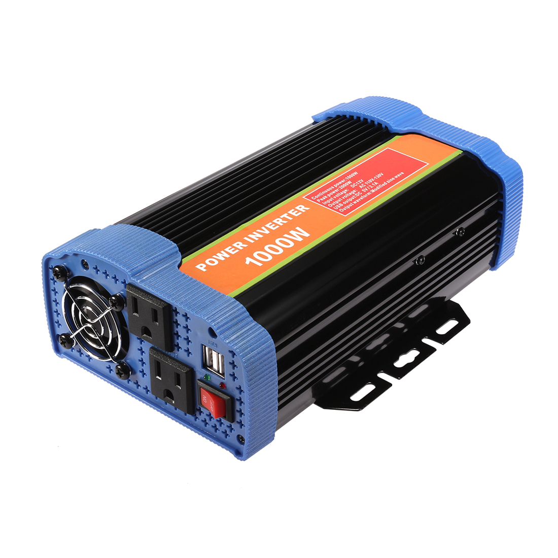 1000W Power Inverter DC 12V to AC 110V-130V with 2.1A Dual USB Car Adapter