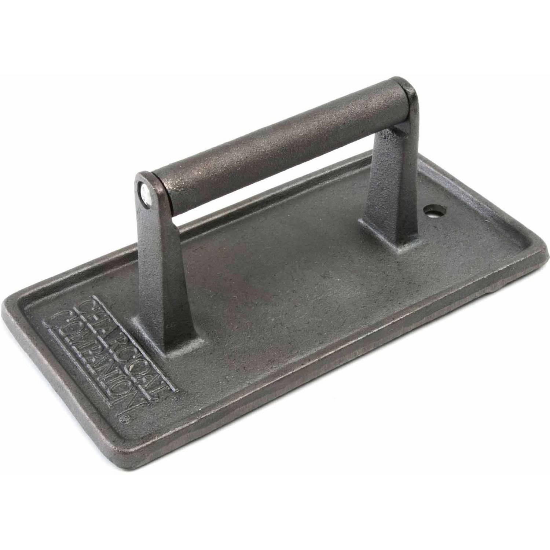 "Charcoal Companion Cast Iron Rectangular Grill Press 8.75"" x 4.5"", CC5024"