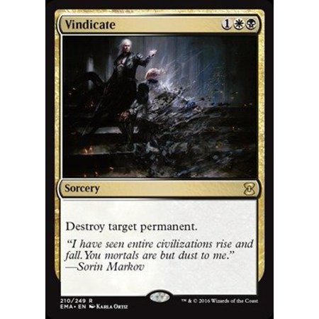 Masters Single Card - - Vindicate (210/249) - Eternal Masters, A single individual card from the Magic: the Gathering (MTG) trading and collectible card game (TCG/CCG). By Magic: the Gathering