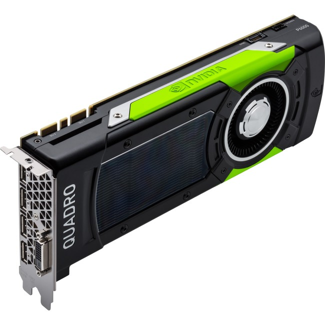 PNY Quadro P6000 Graphic Card 24 GB GDDR5 Full-height Dual Slot Space Required 384 bit Bus Width Fan Cooler OpenGL 4.5,... by PNY