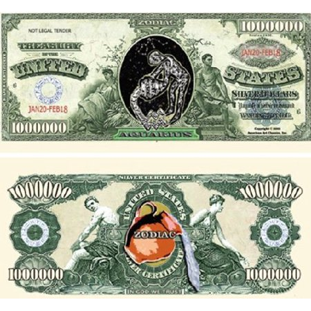 Set of 10 Bills-Aquarius Million Dollar Bill, By Novelties Wholesale - Wholesale Novelty Items