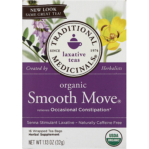 Generic Traditional Medicinals Organic Smooth Move Laxative Tea, 1.13 oz, (Pack of 6)
