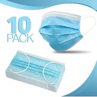 10-Pack, Disposable Face Mask 3-layer Ear Loop