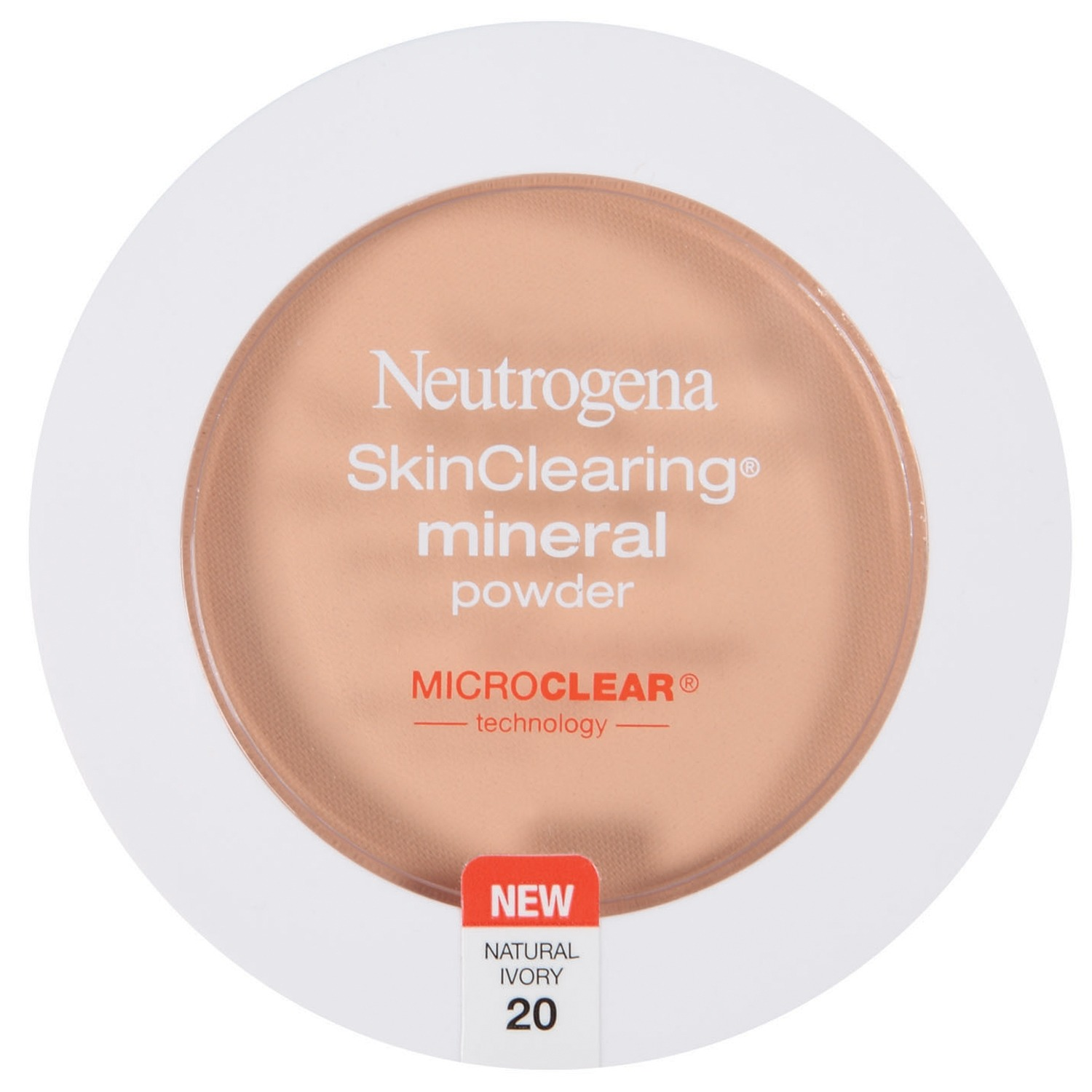 Neutrogena Skinclearing Mineral Powder, Natural Ivory 20, .38 Oz
