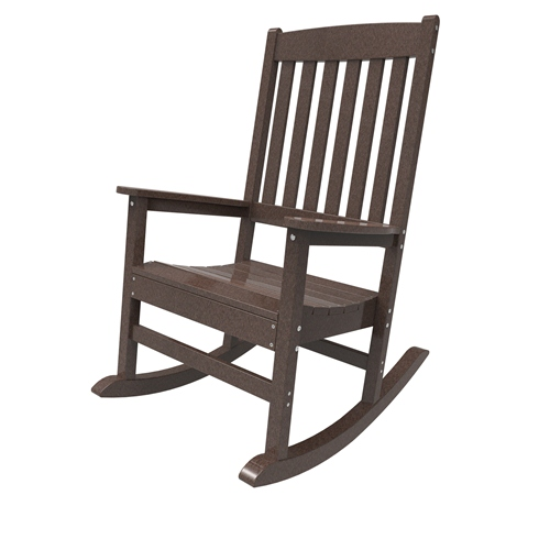 Porch Rocker by Malibu Outdoor - Glendale, Dark Brown