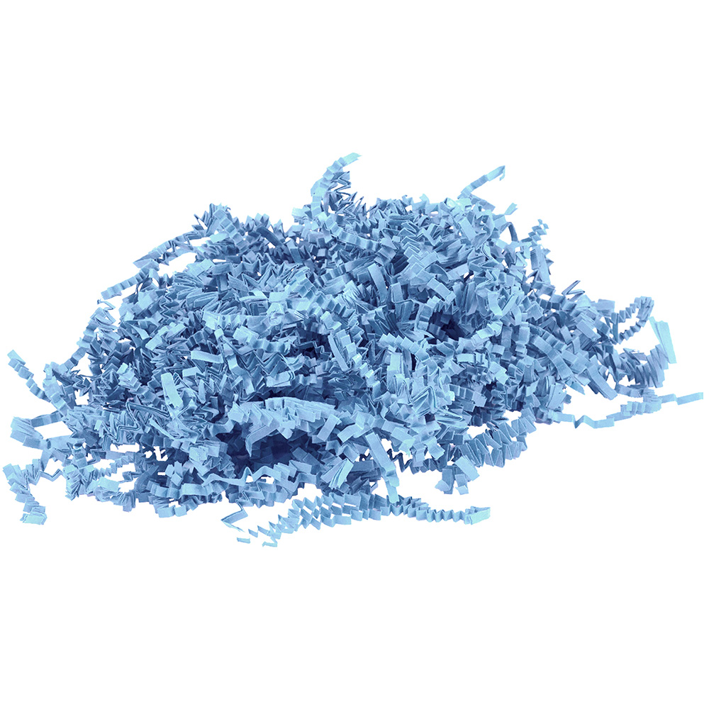 JAM Paper Shred Tissue Paper Krinkeleen, 2 oz, Baby Blue, Sold Individually