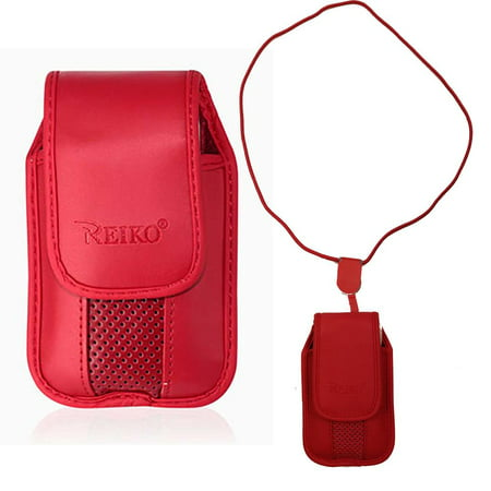 outlet store b1c4d f114b Red around the Neck Hanging Lanyard Magnetic Top Case fits LG b470 ...
