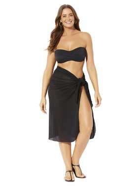Swimsuits For All Women's Plus Size Audrey Convertible Sarong Cover Up