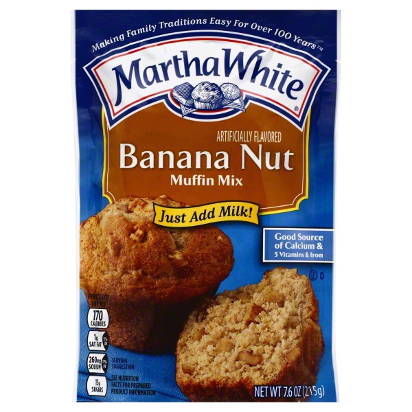 Martha White Banana Nut Muffin Mix, 7.6 OZ