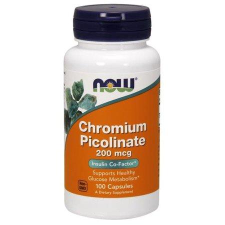 60 Caps Supplement Pills - Chromium Picolinate Now Foods 100 Caps