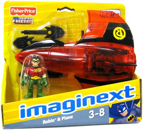 DC Super Friends Imaginext Robin & Plane Figure Set
