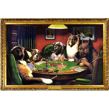 ((24x36) C.M. Coolidge (Bold Bluff, Dogs Playing Poker) Art Poster Printeasy to frame and makes a great gift too By Poster Revolution)