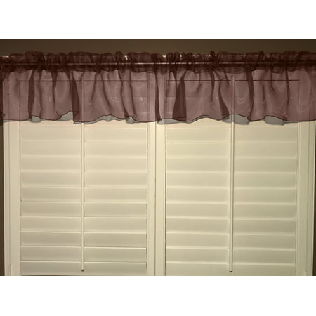 sheer organza window valance 58 wide brown (Bobbi Brown Sheer Finish)