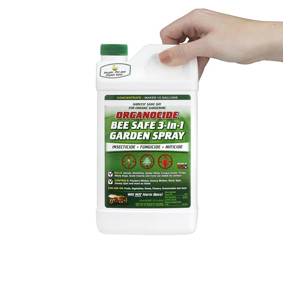 Organocide® 3-in-1 Organic Pest Control Garden Spray Concentrate, 1 ...