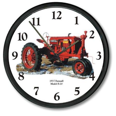 """1937 New Vintage Red Farmall Tracteur modèle F-20 Tracteur 10"""" Horloge murale - image 1 de 1"""
