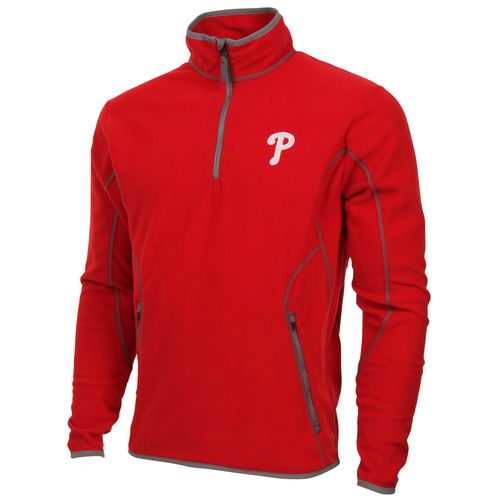 Antigua Philadelphia Phillies Quarter Zip Ice Polar Fleece Jacket Red by