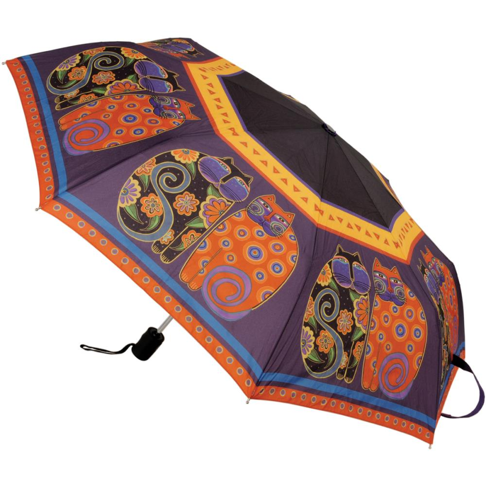 Laurel Burch Umbrella 42 Inch Canopy Auto Open-Feline Family Portr