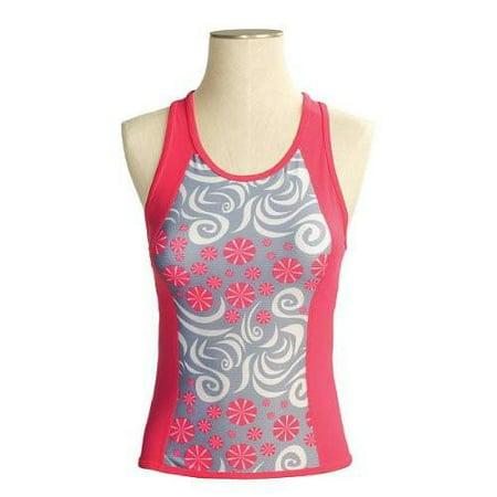 SheBeest Kona Tri Top, White/Pink, X-Small (Kona Tri Suit)