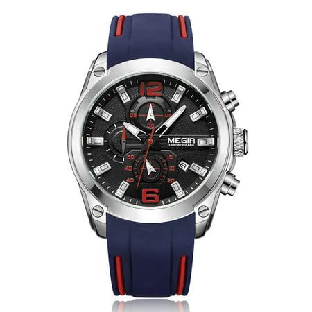 Relógio masculino MEGIR com cronógrafo analógico de Quartzo, modelo 2063
