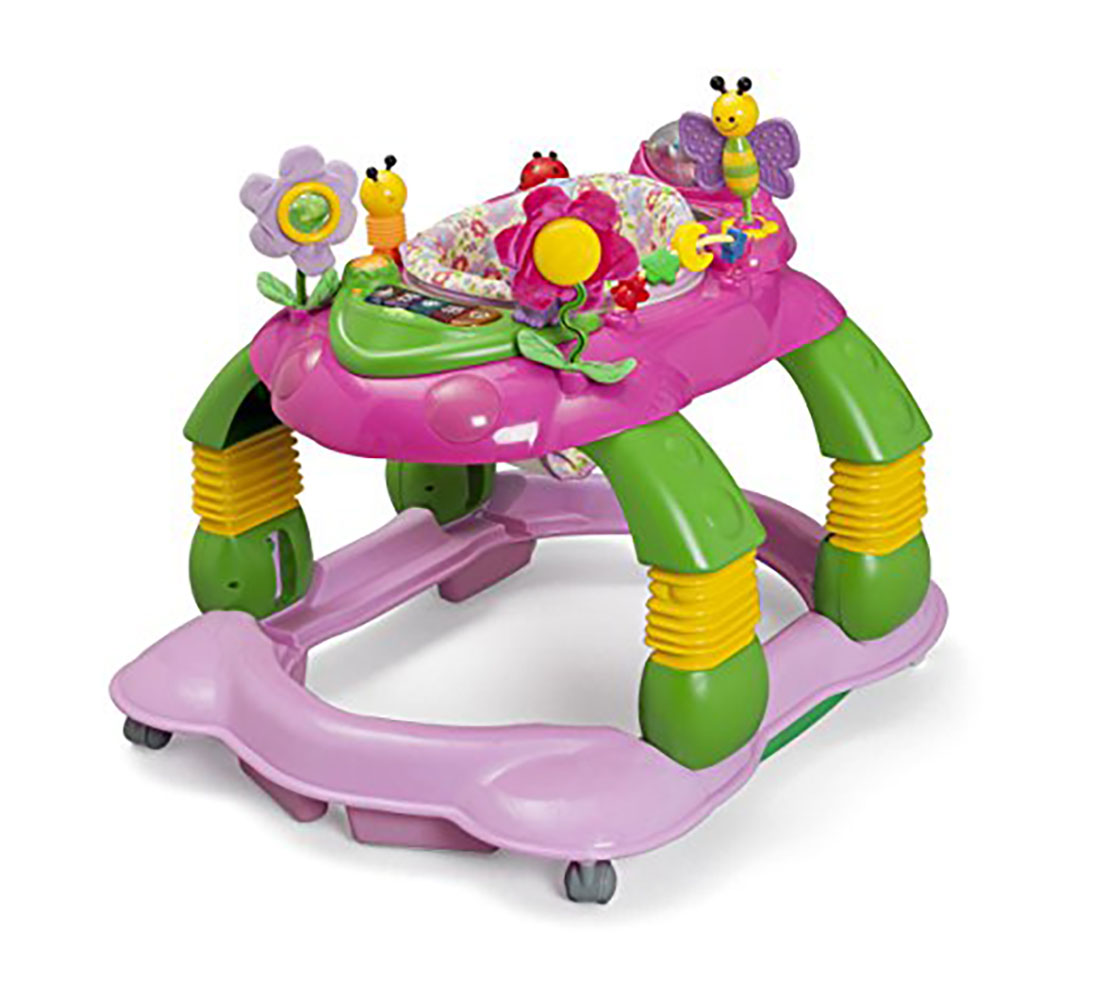 Delta Children Lil' Play Station 3-in-1 Activity Walker - Floral Garden