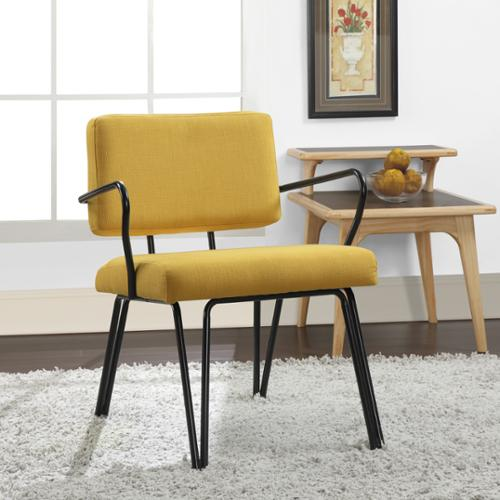 I Love Living Palm Springs Yellow Upholstery Accent Chair