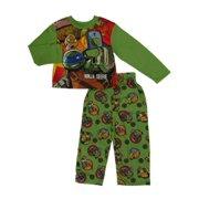 Teenage Mutant Ninja Turtles Boys Green Sleepwear Ninja Selfie Pajama Set XS 4-5