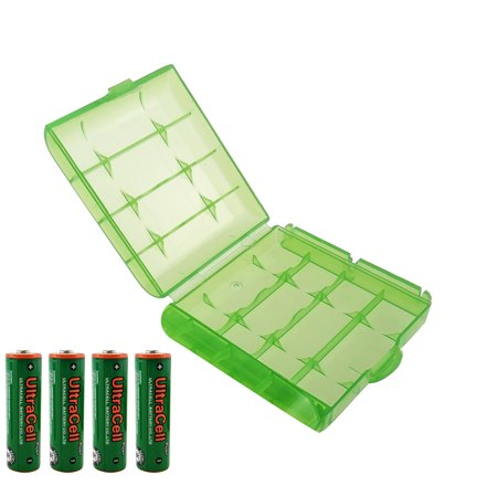 UltraCell Plus NiZn 1.6v AA - 2800mWh High Voltage Rechargeable Batteries With Battery Storage Box (Combo for 4pcs AA + 1pcs Green Battery Box) - Plus Size Halloween Costume Stores