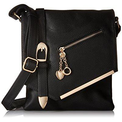 mkf collection jasmine women stylish vintage crossbody bag fashion flap over handbag