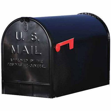 Solar Group Inc St200b00 Black Jumbo Size Rural Mailbox