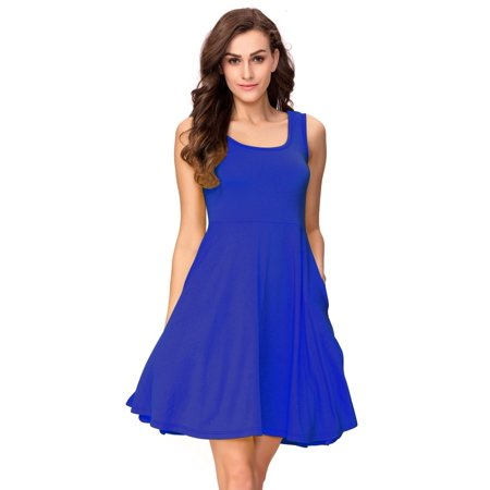 One Sight - One Sight Summer Beach Casual Flared Midi Tank Dress for Women 90a3758a23