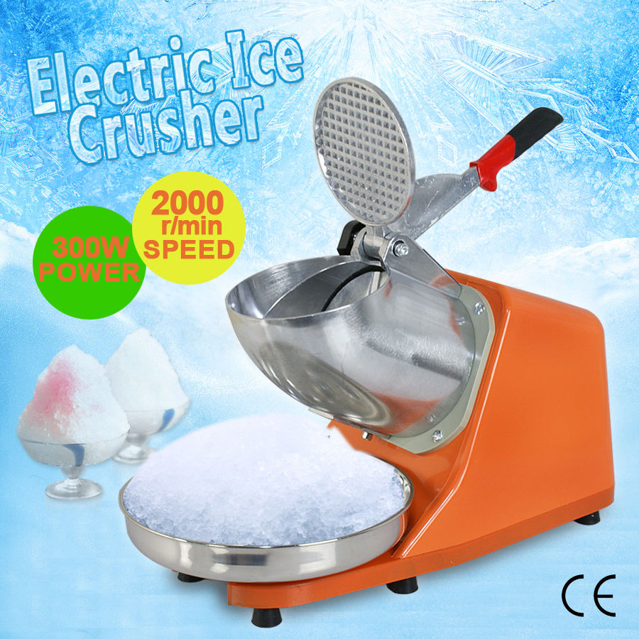 Zeny 300W Electric Ice Shaver Shaved Machine Shaver Shaved Icee Snow Cone Maker 143 lbs