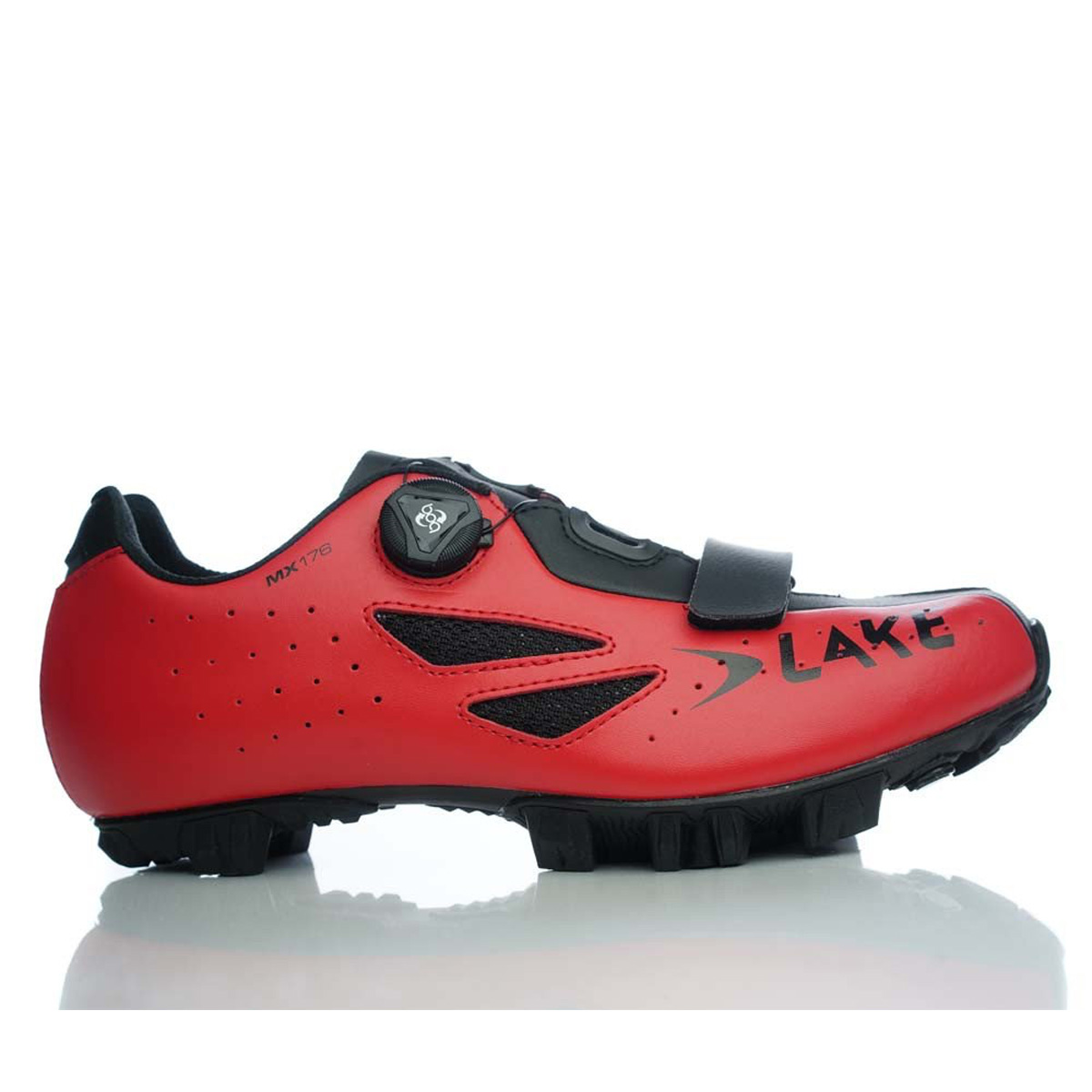 Lake Cycling 2017 Men's MX176 Mountain Bike Shoes - Red/B...