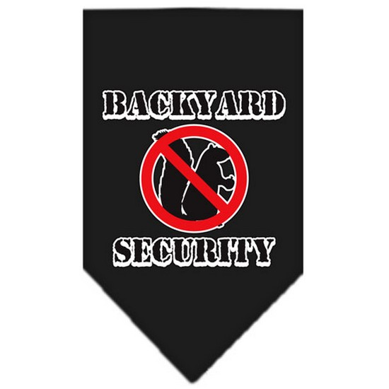 Backyard Security Screen Print Bandana Black Small