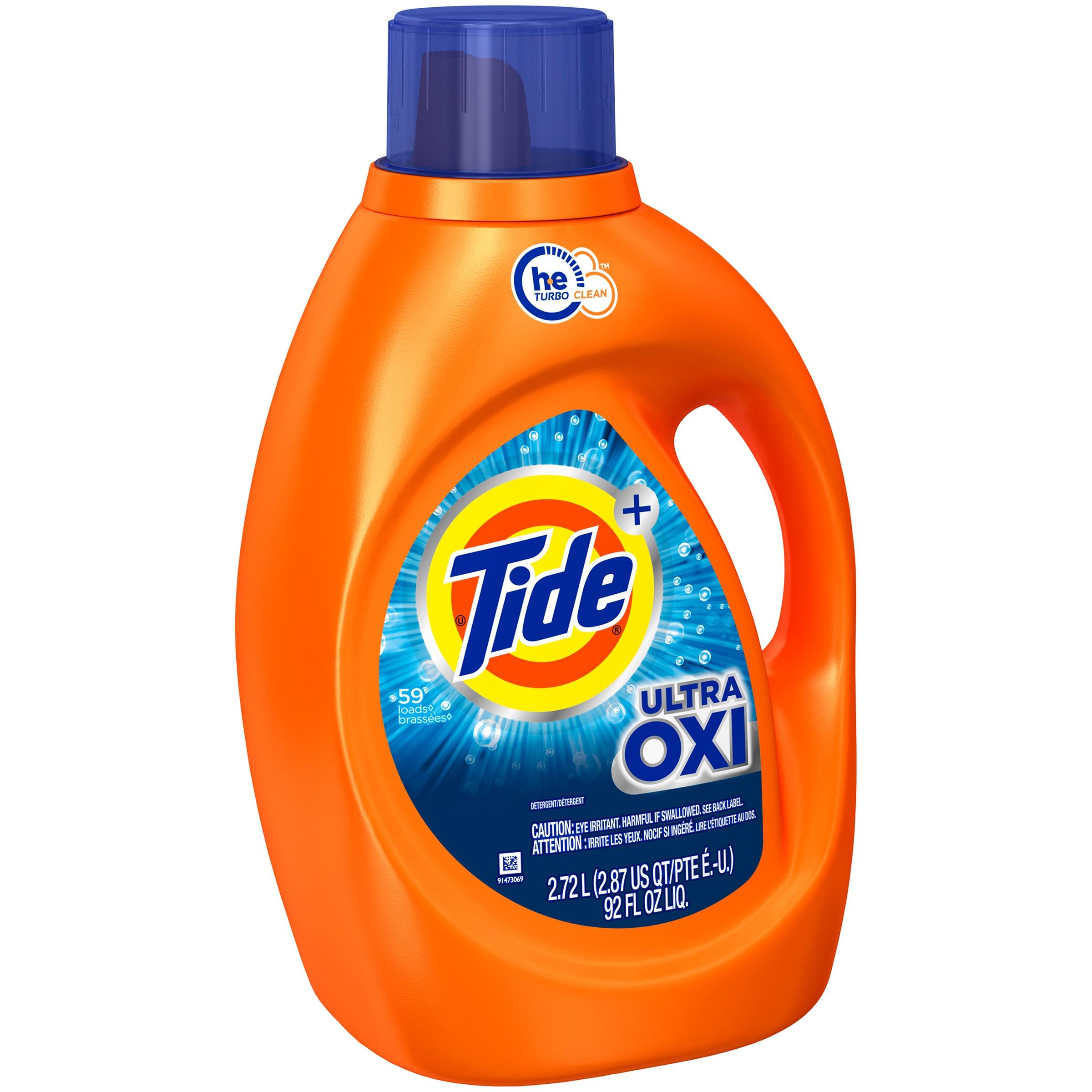 Tide Plus Ultra Oxi Liquid Laundry Detergent - 92 fl oz