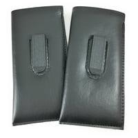 Mazzeo 2 PACK Slip in Soft Glasses Case for Eyeglasses Sunglasses for Men & Women