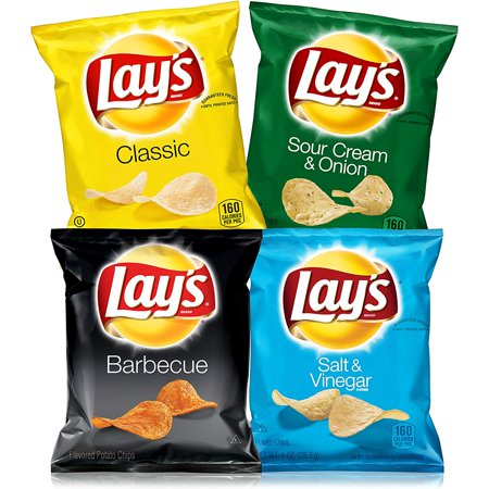 Lay's Potato Chip Variety Snack Pack, 40 Count (Halloween Snacks Appetizers)